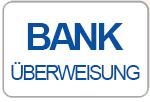 Zahlen Sie per Vorkasse - unsere Bankverbindung erhalten Sie mit der Bestellbestätigung